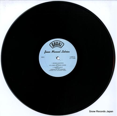 LEBRON, JUAN MANUEL salsa con sentido BROKI8801 - disc