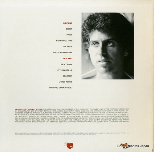 RIVERS, JOHNNY borrowed time RS-1-3082 - back cover