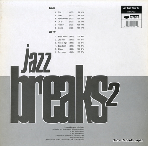 DR. MAGIC jazz breaks volume2 WRRLP024 - back cover