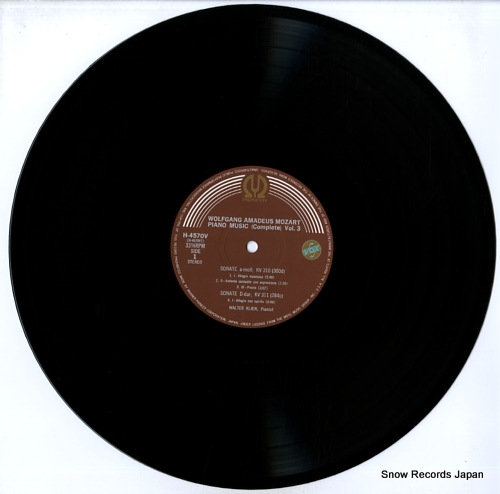 KLIEN, WALTER mozart; piano music (complete) vol.3 / sonatas ii H-4570V - disc