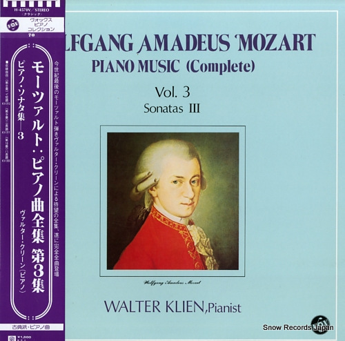 KLIEN, WALTER mozart; piano music (complete) vol.3 / sonatas ii H-4570V - front cover