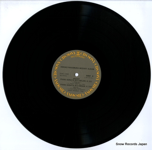 NAKAMURA, HIROKO plays mozart / mozart album 25AC1400 - disc