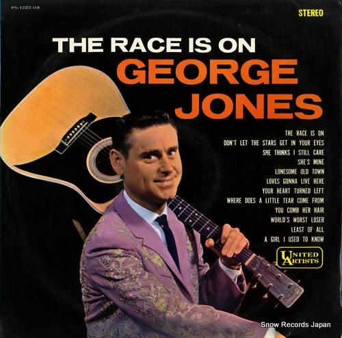 JONES, GEORGE the race is on george jones PS-1222-UA - front cover