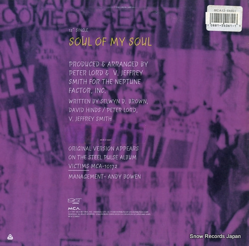STEEL PULSE soul of my soul MCA12-54061 - back cover