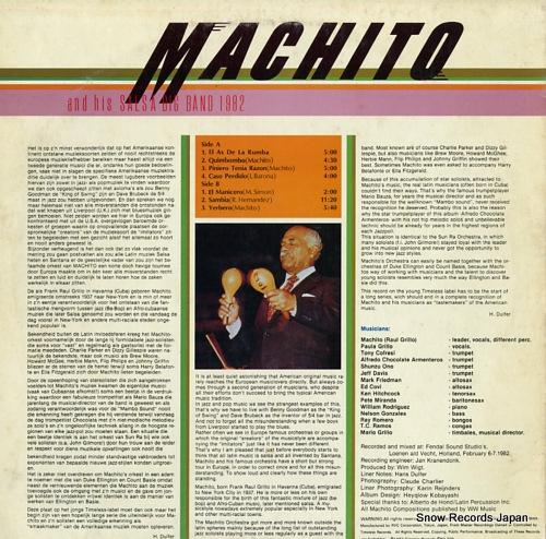 MACHITO machito and his salsa big band 1982 RJL-8056 - back cover