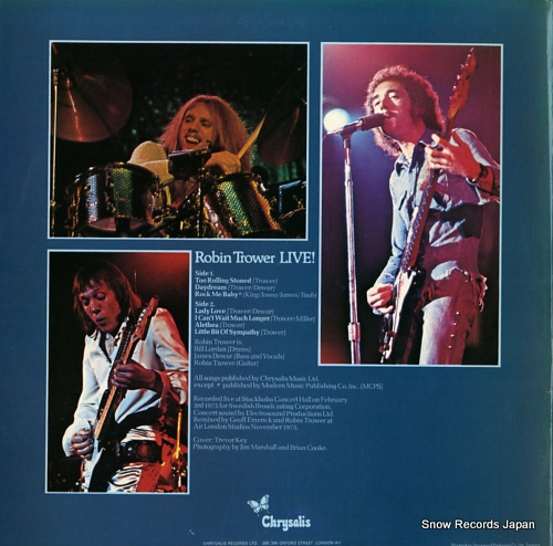 TROWER, ROBIN live! CHR1089 - back cover