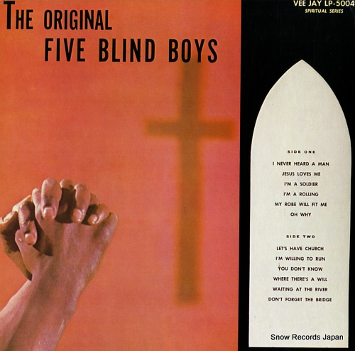 FIVE BLIND BOYS OF MISSISSIPPI, THE the original five blind boys ULS-1884-JY - front cover