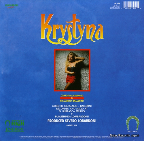 KRYSTYNA never say goodbye HE108 - back cover