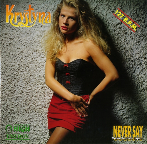 KRYSTYNA never say goodbye HE108 - front cover