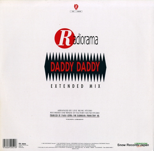RADIORAMA daddy daddy (extended mix) RA8906/RA89.06 - back cover