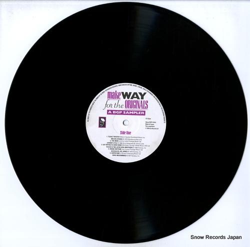 V/A make way for the originals / a bgp sampler BGPX100 - disc