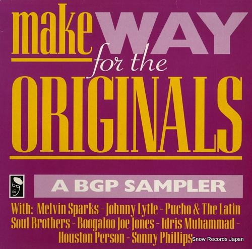 V/A make way for the originals / a bgp sampler BGPX100 - front cover