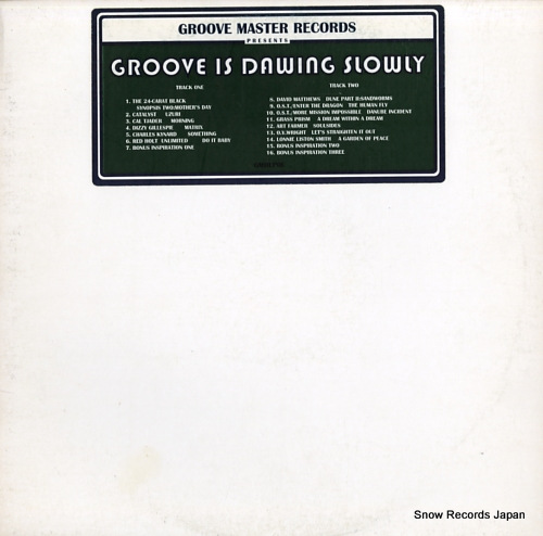 V/A groove is dawing slowly GMRLP01 - front cover