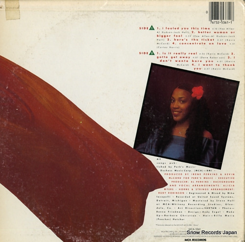 MYERS, ALICIA i fooled you this time MCA-5361 - back cover