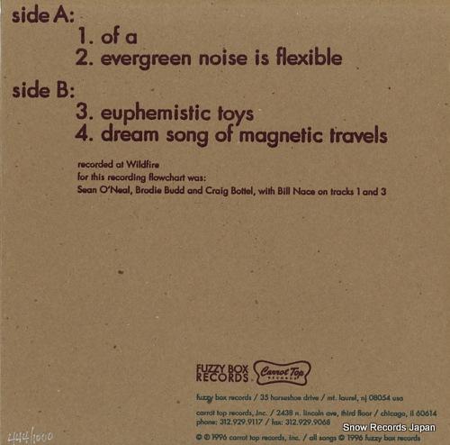 FLOWCHART evergreen noise is flexible SAKI012/FUZ003 - back cover