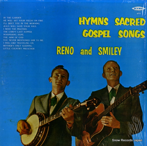 RENO AND SMILEY hymns sacred gospel songs KING693 - front cover