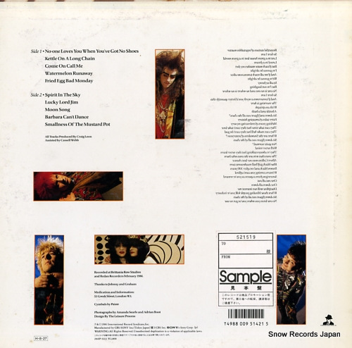 DOCTOR AND THE MEDICS laughing at the pieces 28AP3212 - back cover