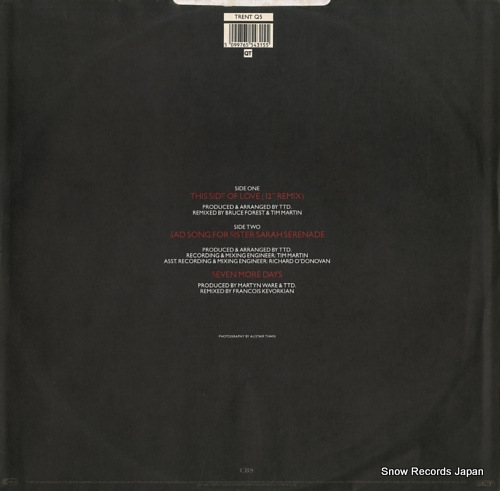 D'ARBY, TERENCE TRENT this side of love TRENTQ5 - back cover