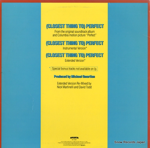JACKSON, JERMAINE (closest thing to) perfect AD1-9357 - back cover