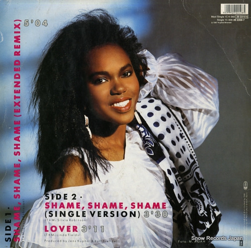 FIELDS, LINDA shame, shame, shame (extended remix) 1CK060-2022106/060-202210-6 - back cover