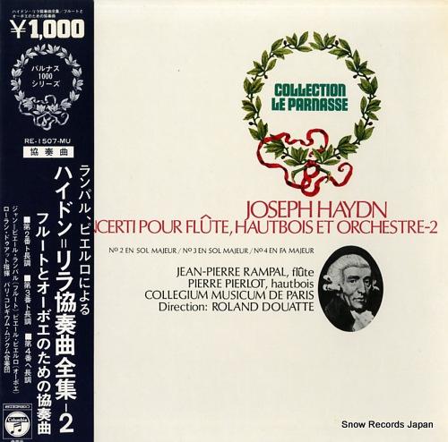 RAMPAL, JEAN-PIERRE haydn; cinq concerti pour flute, hautbois et orchestre-2 RE-1507-MU - front cover