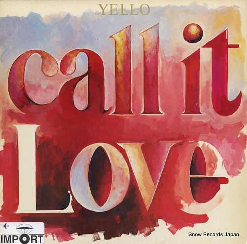 YELLO call it love SOVX2391 - front cover