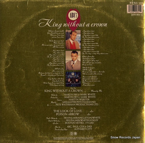 ABC king without a crown NTXG113/870064-1 - back cover