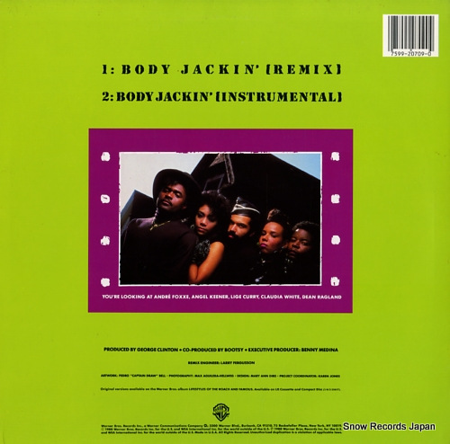 INCORPORATED THANG BAND body jackin' 0-20709 - back cover
