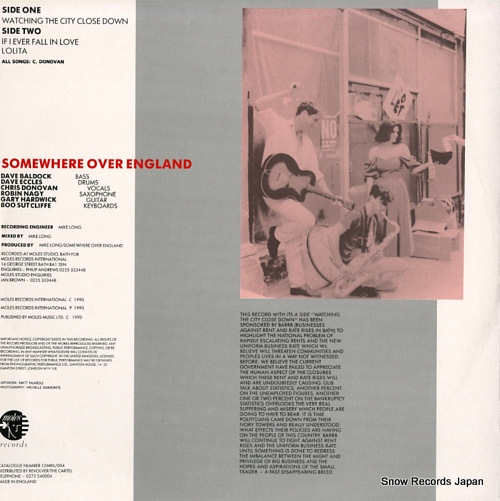 SOMEWHERE OVER ENGLAND watching the city close down 12MRIL004 - back cover