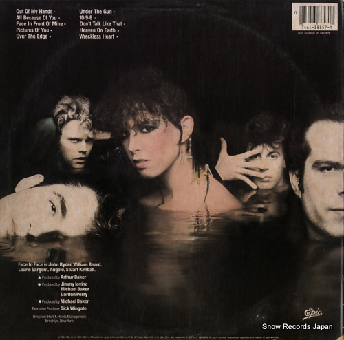 FACE TO FACE face to face BFE38857 - back cover