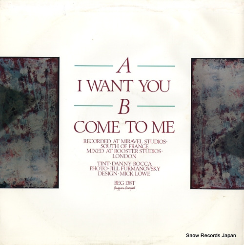 ROCCA, JOHN i want you BEG138T - back cover
