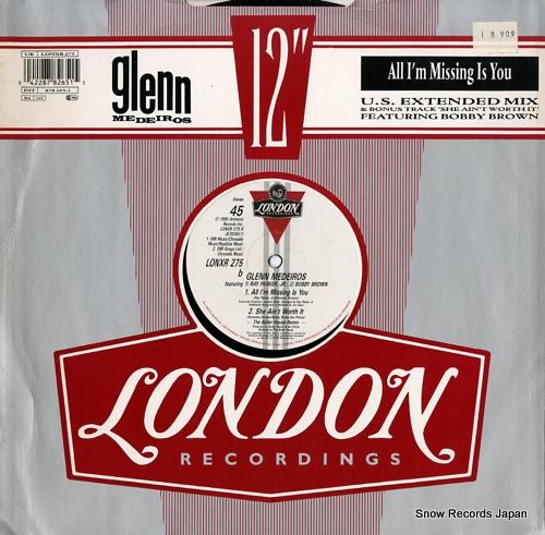 MEDEIROS, GLENN all i'm missing is you (u.s. extended remix) LONXR275 - back cover