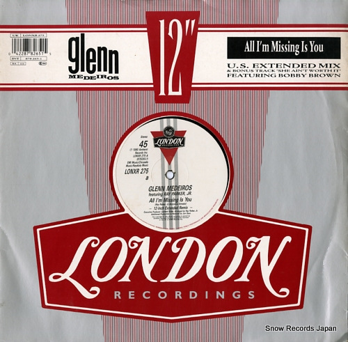MEDEIROS, GLENN all i'm missing is you (u.s. extended remix) LONXR275 - front cover