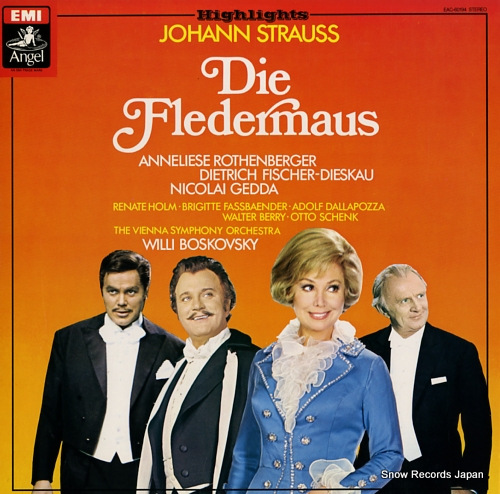 BOSKOVSKY, WILLI j.strauss; die fledermaus EAC-60194 - front cover