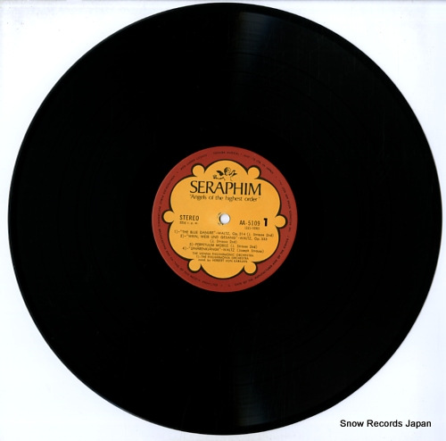 KARAJAN, HERBERT VON j. strauss; the blue danube waltz AA-5109 - disc