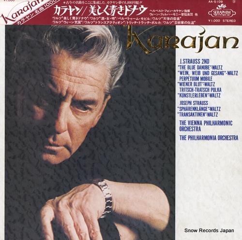 KARAJAN, HERBERT VON j. strauss; the blue danube waltz AA-5109 - front cover