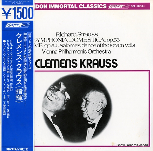 KRAUSS, CLEMENS r.strauss; symphonia domestica, op.53 SOL5003M - front cover