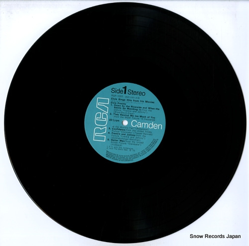 PRESLEY, ELVIS elvis sings hits from his movies RGP-1001 - disc