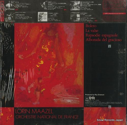 MAAZEL, LORIN ravel; bolero 28AC1742 - back cover