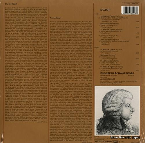 SCHWARZKOPF, ELISABETH mozart; airs d'operas 1432221 - back cover