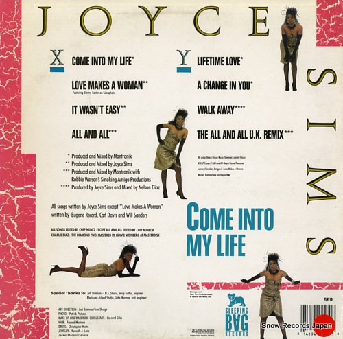 SIMS, JOYCE come into my life TLX10 - back cover