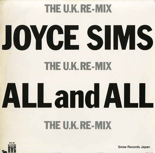 SIMS, JOYCE all and all (the u.k. re-mix) SLX-20 - back cover