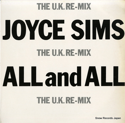 SIMS, JOYCE all and all (the u.k. re-mix) SLX-20 - front cover