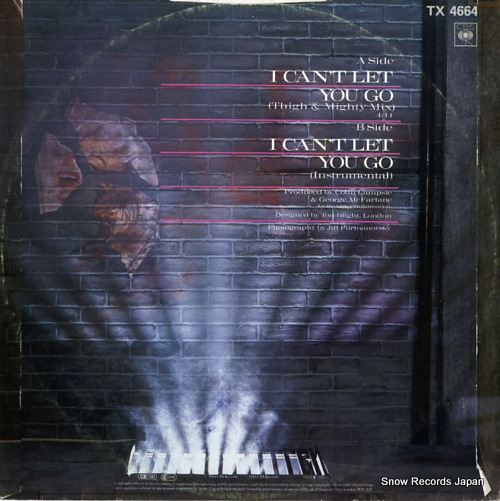 HAYWOODE i can't let you go TX4664 - back cover