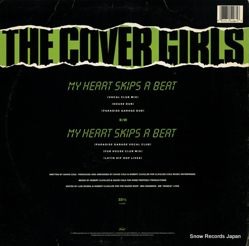 COVER GIRLS, THE my heart skips a beat V-15498 - back cover