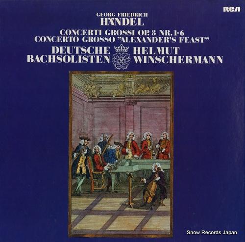 ドイツ・バッハゾリステン/ヘルムート・ヴィンシャマン handel; concerti grossi op.3 nr.1-6 RL30356