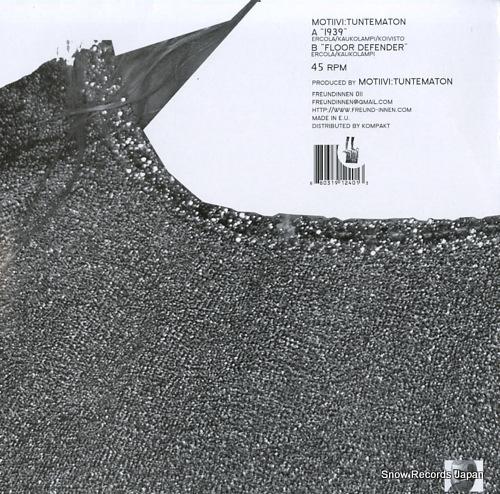 MOTIIVI:TUNTEMATON 1939 / floor defender FREUNDINNEN011 - back cover