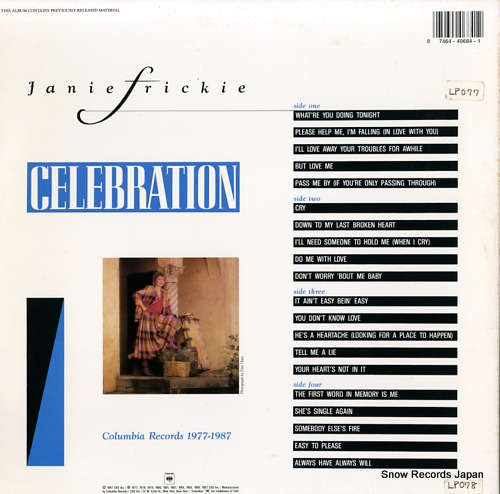 FRICKIE, JANIE celebration C240684 - back cover