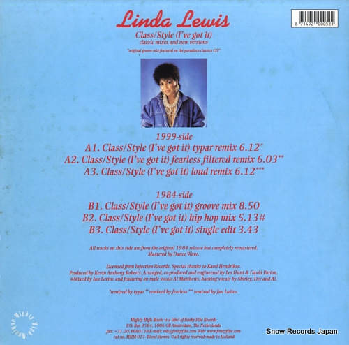 LEWIS, LINDA class / style (i've got it)(classic mixes and new versions) MHM017 - back cover