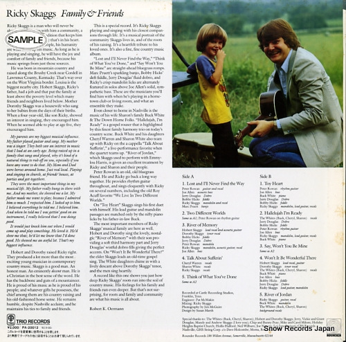 SKAGGS, RICKY family & friends PA-20012 - back cover
